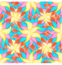 spring or summer flowers pattern floral vector image vector image