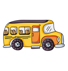 vehicle school bus education transportation vector image