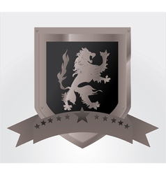 vintage emblem with lion vector image vector image