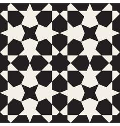 Seamless Black White Geometric Pattern vector image