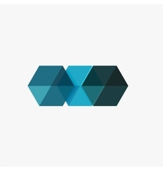 Empty blank hexagon layout geometric template for vector