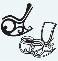 Rocking chair vector image