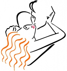 Kissing men and women vector