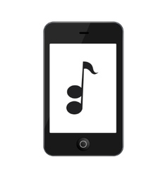 Modern smartphone isolated on white vector
