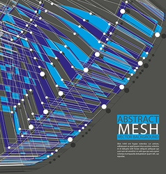 Abstract mesh template for technology theme vector