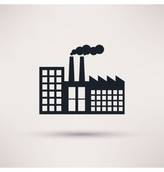 Industrial factory in a flat style icon vector