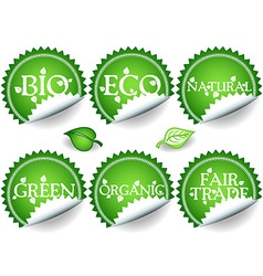 Green stickers-set2 vector