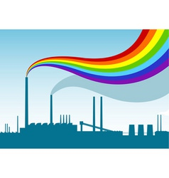 Rainbow factory vector