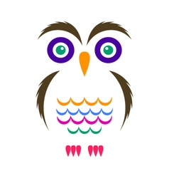 Simple owl icon vector