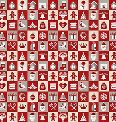 Christmas design icons set backgroundseamless vector
