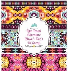 Seamless bright pattern in tribal style vector