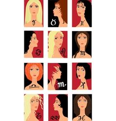 Zodiac girls vector image