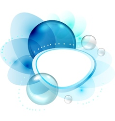 Abstract Bubbles Frame vector image