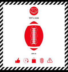 american football ball icon vector image