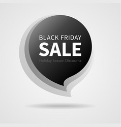 black friday sale isolated black sticker vector image vector image