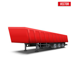 Blank parked red tipper semi trailer vector image