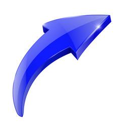 blue arrow shiny web icon vector image