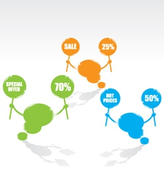 bubble speech sale vector image