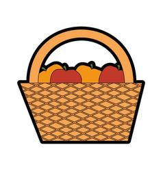 camping basket cartoon vector image vector image