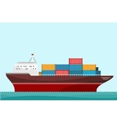 Cargo ship containers shipping vector