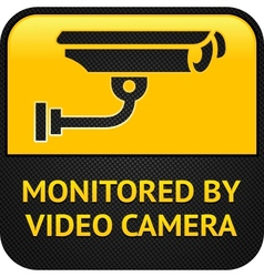cctv pictogram web button vector image vector image