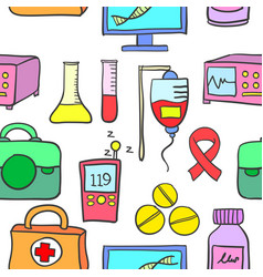 Collection stock of medical element doodles vector