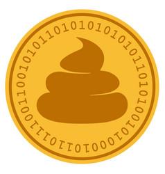 Crap digital coin vector