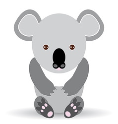 Cute cartoon koala on a white background vector image vector image