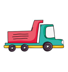 Dump truck industry and contruccion vehicle vector