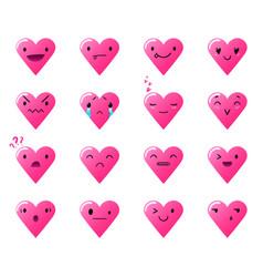 Emoticons heart gradient 3 vector