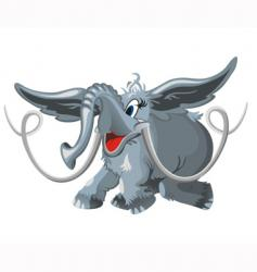 flying elephant vector image vector image