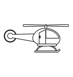 helicopter transport fly image vector image
