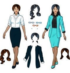 Indonesian Businesswoman in elegant formal wear vector image vector image
