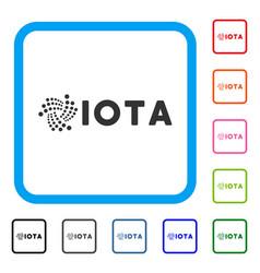 Iota ticker framed icon vector