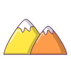 mountain icon cartoon style vector image