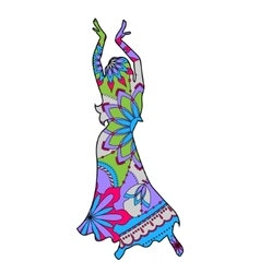 Oriental dancer colorful vector image vector image