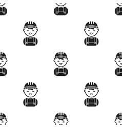 Policeman black icon for web and vector image vector image