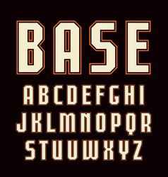 sanserif font with contour vector image