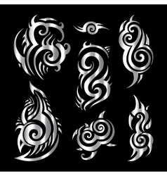 Silver tattoo vector