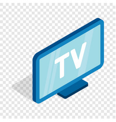 Tv screen isometric icon vector