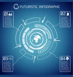 Virtual futuristic infographic template vector