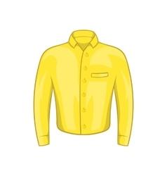 Yellow man shirt icon cartoon style vector image
