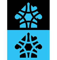 House icon isolated reversed colors applied for vector