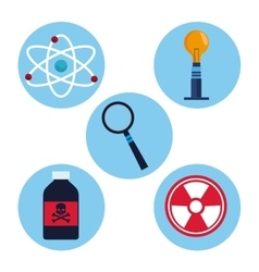 Set laboratory research science vector