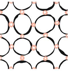 sketchy circles seamless pattern vector image