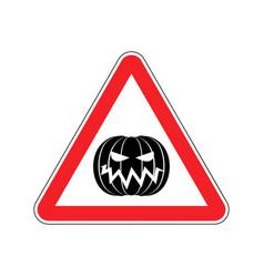 Halloween warning sign red masquerade hazard vector