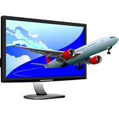Al 0812 plane with screen 02 vector