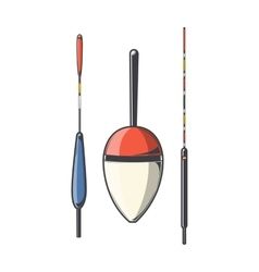 Set of fishing floats vector
