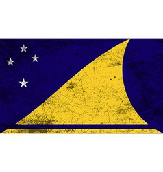Flag of tokelau with old texture vector