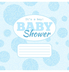 Baby shower party invitation - baby boy vector